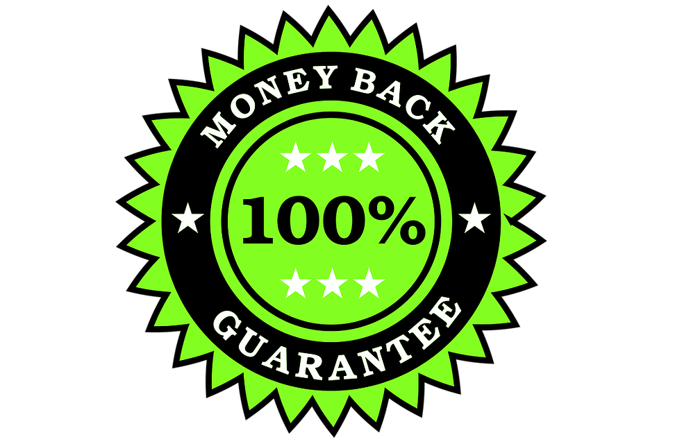 money back guarantee to increase sales