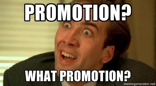 a man doesnt know what is promotion