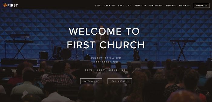 first church homepage