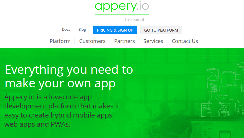 Appery.io homepage